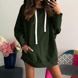Oversized Hoodies 2017 Autumn Winter Womens Long Sleeve Hooded Pullover Loose Casual Warm Sweatshirt WS4311X - thefashionique