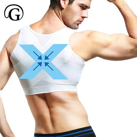 PRAYGER Men Gynecomastia Control Boobs Shaper Slimming Chest Support Back Tops Hook Hold Stomach Girdles Firm Undergarments