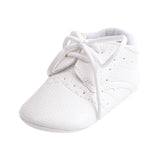 PU Leather Baby Shoes 3 Colors Available Solid Anti-skid Newborn Baby Boy Girl Lace-Up Toddler Casual Shoes First Walkers - thefashionique