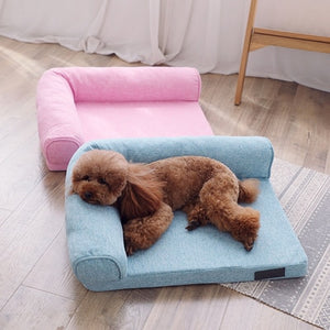 Pet House Washable Large Dog Kennel Bed Met Puppy Sofa Pad Casa Para Gato Funny Cushion Katten Mandjes Animals Products DD6GW