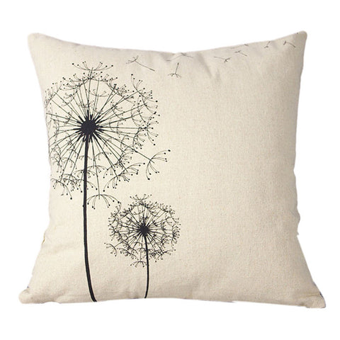Pillows Case Home Cotton Linen Square Throw Pillowcase Cushion Fronha Travesseiro Body Pillow Cover Dandelion, Geometry, Letters