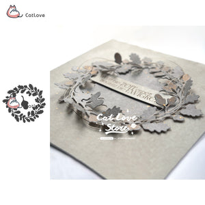 Pine Cone Wreath Metal Cutting Dies Stencils For DIY Scrapbooking Paper Card Decorative Craft Dies Embossing Die Cuts New 2019 - thefashionique