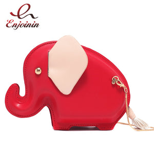 Pink & Red Cute Elephant Design Fashion Novel Female Shoulder Bag Crossbody Mini Bag Purses and Handbags Shoulder Bag Clutch Bag - thefashionique