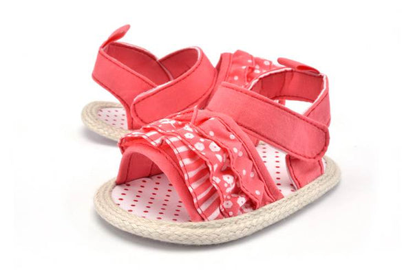 Pink/white Princess Party Newborn Baby Girl Shoes Knitted Butterfly-knot Solid Summer New Anti-slip Soft Soled First Walkers - thefashionique