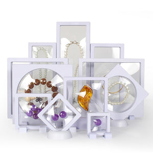 Plastic film gem box OEM jewelry display box can be customized multi-specification pendant bracelet display stand