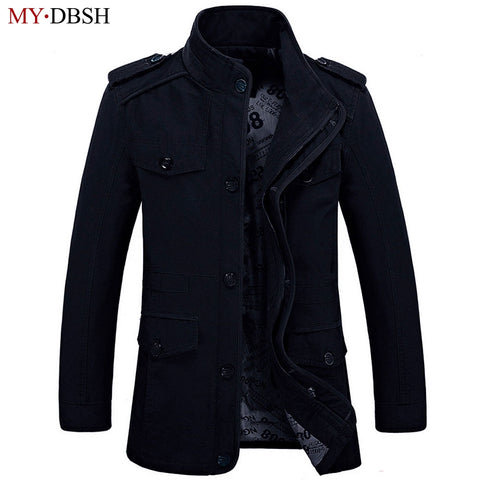 Plus Size 6XL Loose Men Jackets 2018 New Brand MYDBSH Nature Cotton Warm Autumn and Winter Jacket Mens business Casual Coats