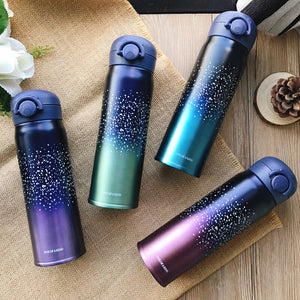 Portable Thermos Mug Double Wall Stainless Steel Vacuum Car Thermo Water Bottle Creative Starry sky Coffee Tea Cup For Camping - thefashionique
