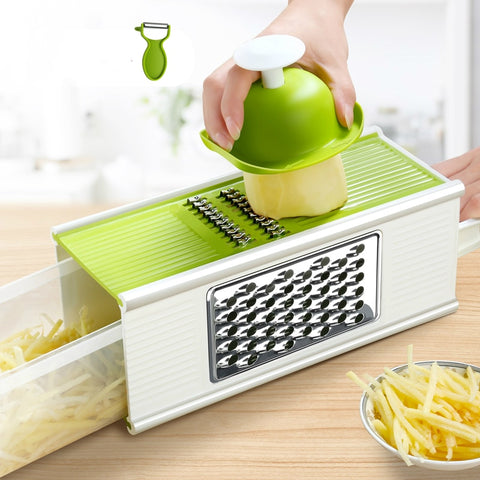 Potato Cutters Fruit Apple Slicer Onion Vegetable Cutter with Storage Box Salad Cutter Bowl Kitchen Gadgets and Accessories Aid - thefashionique
