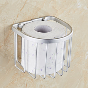 Preferential space aluminum bathroom toilet paper holder toilet roll paper towel sanitary napkin storage bathroom accessories - thefashionique