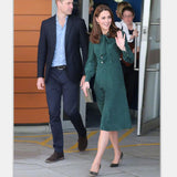 Princess Kate Middleton Dress 2019 Woman dress Spring Bow Neck Long Sleeve Polka Dots Elegant Dresses Work Wear Clothes NP0233J - thefashionique