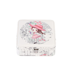 Princess exquisite girl jewelry box Japanese sweet jewelry watch cosmetics multi-function storage box