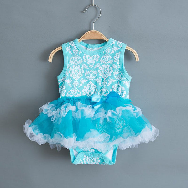 Printing Summer Baby Girl Dress Cotton Ball Gown Sleeveless Party Dresses Christening Newborn Girls Clothes - thefashionique