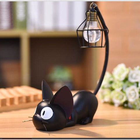Products Mini Home Decor Ornament Resin Little Black Cat Night Light Desk Figurines Miniatures Kids Favor Home Decoration & Gift - thefashionique