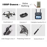 Professional KY601S HDRemote Control Quadcopter Camera Drone Helicopter 4 Channel Long Lasting Foldable Arm Aircraft ExtraBettry - thefashionique