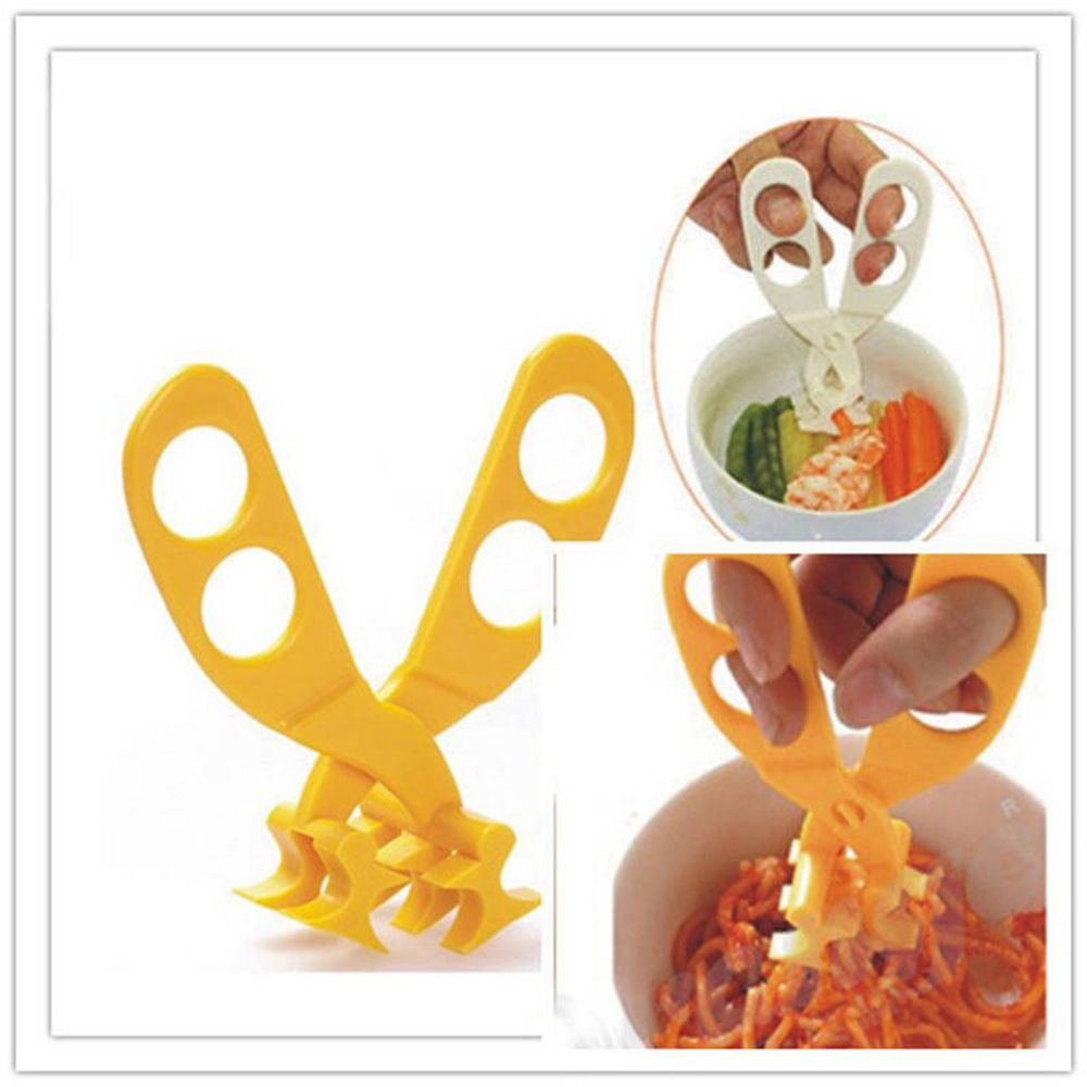 Professional Safe Crush Kids Cut Food Scissors Baby Feeding Helper Kitchen Shears ABS Material Tools Hot sale - thefashionique