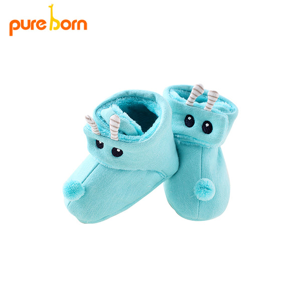 Pureborn 0-18M Infant Toddler Baby Mint Soft Plush Princess Shoes Shoes Infant Prewalker New Born Girls and Boys Shoes - thefashionique