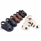 Puseky Summer Shoes Baby Boys Soft Leather Sandals Babs Boys Summer Prewalker Soft Sole Genuine Leather Beach Sandals - thefashionique