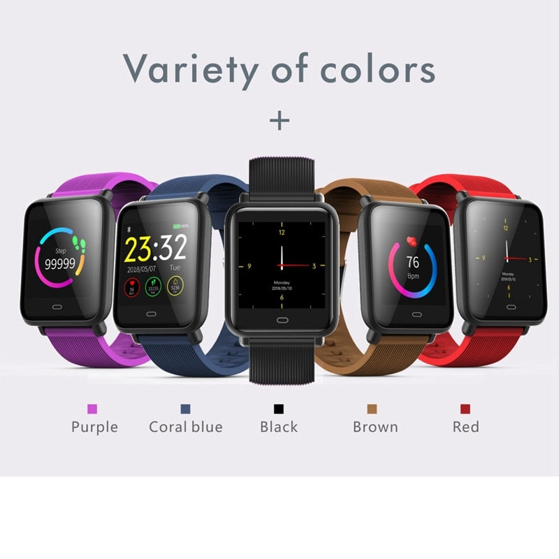 Q9 Color Screen Smart Watch for Sports Men Women Kids IP67 Waterproof Wristwatch Wearable Devices Heart Rate Smartwatch pk SN60 - thefashionique