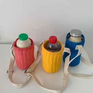 Quilting Baby Feeding Milk Bottle Bag Warmer Insulation Pouch Thermal Bag Storage Bags Bolsa Termica Baby Bottle Holder Cover