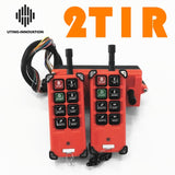 R F21-E1B 2 transmitters 1 receiver 6 buttons Industrial Remote Control Wireless Radio for Uting Hoist Crane - thefashionique