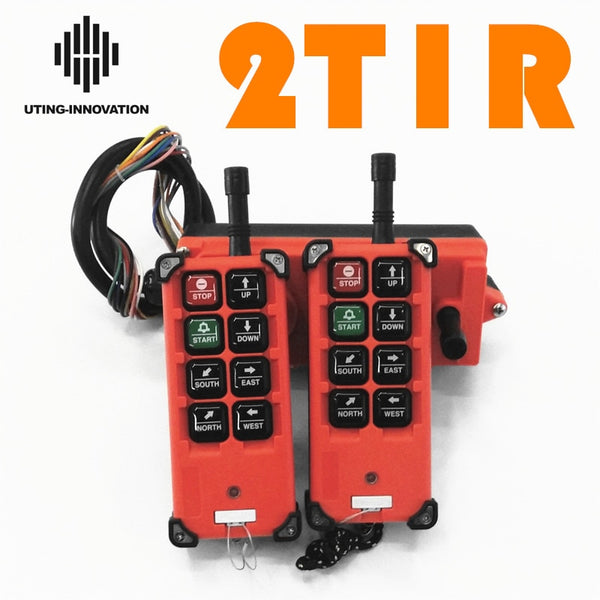 R F21-E1B 2 transmitters 1 receiver 6 buttons Industrial Remote Control Wireless Radio for Uting Hoist Crane