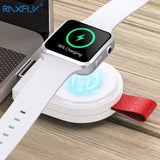 RAXFLY Wireless Charger For Apple Watch 3 4 Magnetic Wireless Charger Dock For Apple i Watch Series 1 2 3 4 USB Charging Adapter - thefashionique