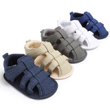 ROMIRUS Newborn Baby Boy Kids Shoes Crib Bebe First Walkers Classic Solid Fashion Soft Bottom Anti-Slip Summer Infant Shoe - thefashionique