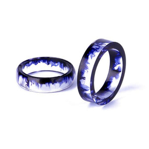 Resin Couple Personality Tail Ring - Ink Mirror 6-16MM/7-17mm/8-18MM/9-19MM/10-20MM Best Friend Gifts - thefashionique