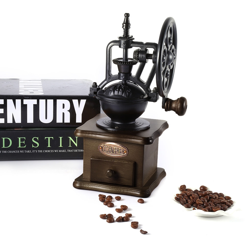 Retro Style Coffee Grinder Ferris Wheel Design Coffee Grinder With Ceramic Movement Burr Coffee Grinder Hand Grinding Machine - thefashionique
