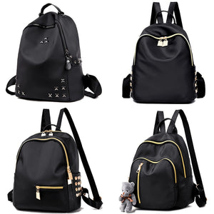 Rivet Mini Backpck School Bag Nylon Oxford Shoulder Bag for Women Backpacks-for-teenage-girls Female Rucksack College Bag - thefashionique