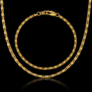 Romantic Mini Gold Chain Necklace Bracelet Wedding Bridal Jewelry Sets & More, Dubai Jewelry Sets Women Gold Color 2016 New - thefashionique