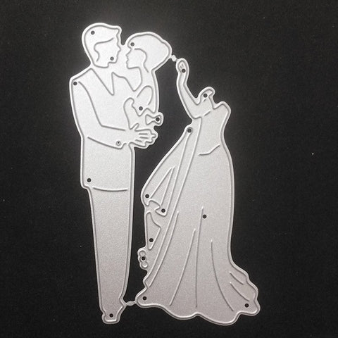 Romantic couple wedding Metal Cutting Dies Stencil DIY Scrapbooking Photo Album Decor Embossing Cards Making DIY Crafts - thefashionique