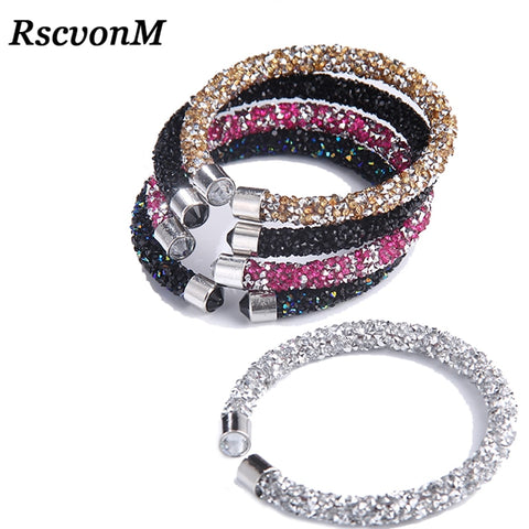 RscvonM Exquisite Crystal Cuff Bracelet Brand Open Bangles Pulseira Feminina For Women Bijoux New Fashion Jewelry Gift Bangles - thefashionique