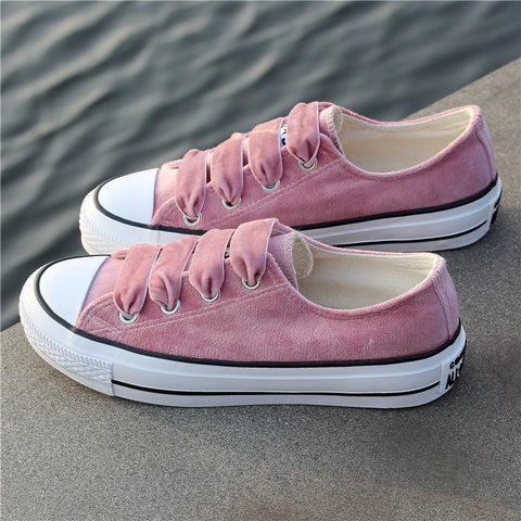 SHANTA Women Vulcanized Shoes 2018 Fashion Solid Color Women Canvas Shoes Lace-up Casual White Ladies Shoes Woman Sneakers
