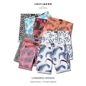 SIMWOOD 2018 Summer New Floral Hawaii Shorts Men Slim Fit Fashion Print Plus Size Casual Mens Clothing High Quality 180317 - thefashionique