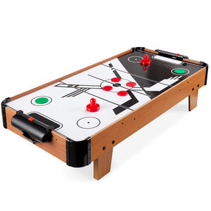 Tabletop Air Hockey Game Table w/ 2 Blower Fans, 2 Pucks, 2 Strikers - 40in