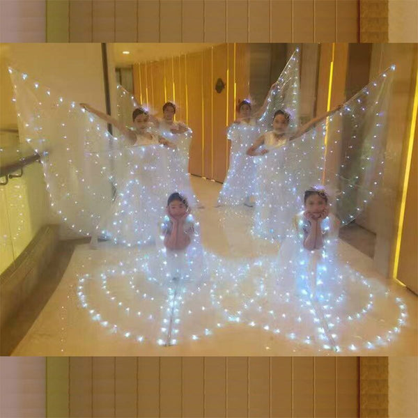 SONGYUEXIA Women Ballet LED Dance Butterfly Dress with Wings Child Ballet Skirt  Ballet Dance LED Luminous Ballet Dance Costume - thefashionique