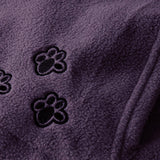 Saimishi Purple Embroidery Big Pocket Pullovers Women Sweatshirt  Autumn Winter Warm Fashion With Cat Lovers Pet Dog Hoodies - thefashionique