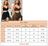 Sexy 2pcs Set Women 2 Piece Bodycon Sequin Crop Top Split Skirt Set Button Dress Evening Party Club Lady Clothes Set - thefashionique
