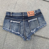 Sexy Women Plus Size Tassel Denim Booty Shorts HIgh Waist Sexy Jeans Shorts  Micro Mini Short Erotic Culb Wear FX28 - thefashionique