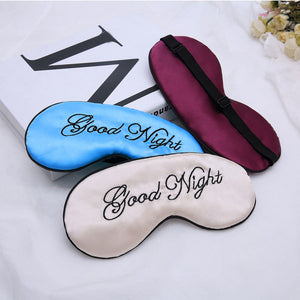 Shading sleep beauty eye mask artificial silk embroidery eye mask shading eye mask silk embroidery embroidered eye mask - thefashionique