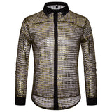 Shiny Gold Sequin Bling Glitter Suits&Blazer Men 2019 New Shawl Collar Club DJ Mens Blazer Jacket Stage Clothers for Singers Xxl - thefashionique
