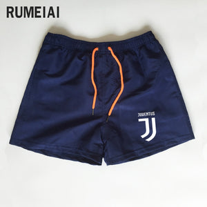Shorts Mens Bermuda 2018 Summer Beach Men shorts Juventus Letter print Male Brand Men'S Short Casual Fitness Jogger 7 color XXXL - thefashionique