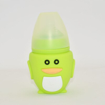 Silicone Baby Bottle baby milk silicone feeding bottle (Spoon bonus) bottle children mamadeira nipple bottle