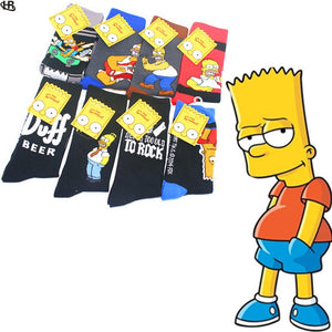 Simpson Cartoon Man women cotton comfortable odorless moisture wicking socks for causal socks free shipping - thefashionique