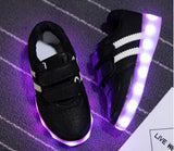 Size 25-34// USB Charger Glowing Girls Sneakers Basket Led Children Lighting Shoes Boys illuminated krasovki Luminous Sneaker - thefashionique