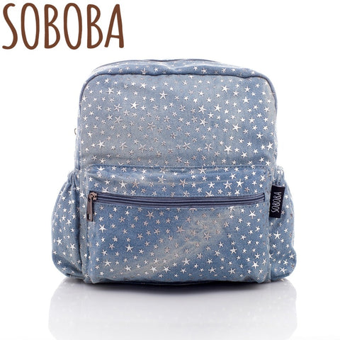 Soboba Stylish Stars Pattern Kids School Backpacks for Boys/Girls Fashionable Toddler Kindergarten Bags 2018 New Arrival - thefashionique