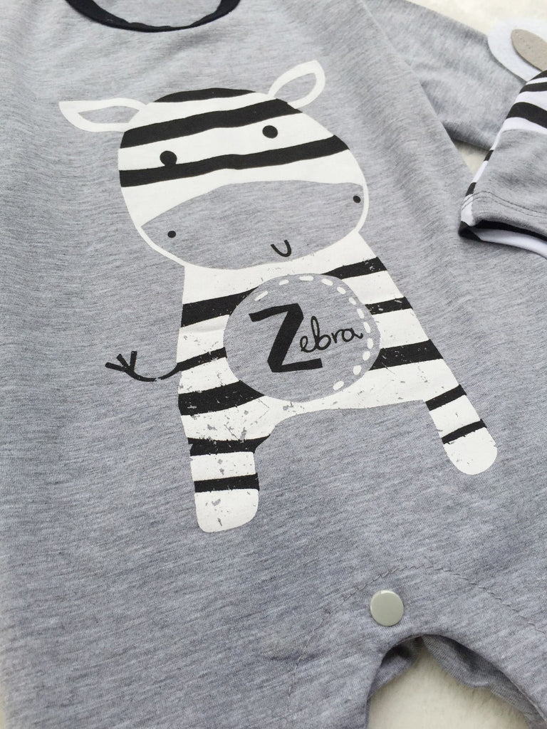 Sodawn Baby Boys Clothes Clothing Cartoon Zebra Newborn Hats Sets Casual Baby Boy Girl Rompers  Baby Clothing - thefashionique