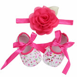 Soft Soled Newborn Girl Baby Shoes Floral Headband Set 2016,Cute Flower Toddler Baby Girl Shoes First Walkers Sapato Bebe Menina - thefashionique