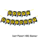 Solar System Outer Space Themed Birthday Party Decoration Paper Plate Cups Napkin Banner Whirls For Kids Planet Themed Party - thefashionique
